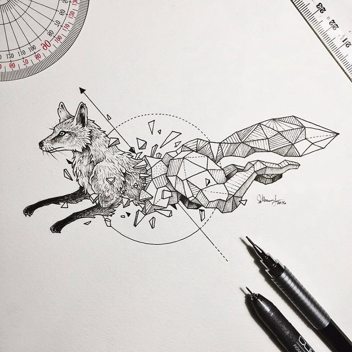 фото рисунки гелевой ручкой
