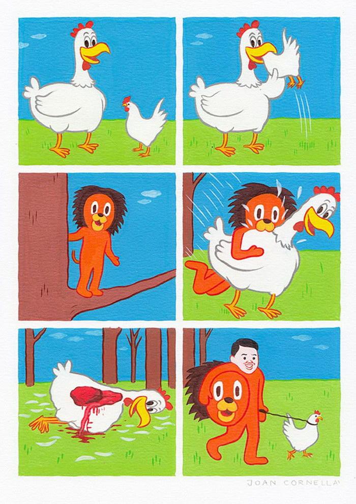 Черный юмор в комиксах Joan Cornell?