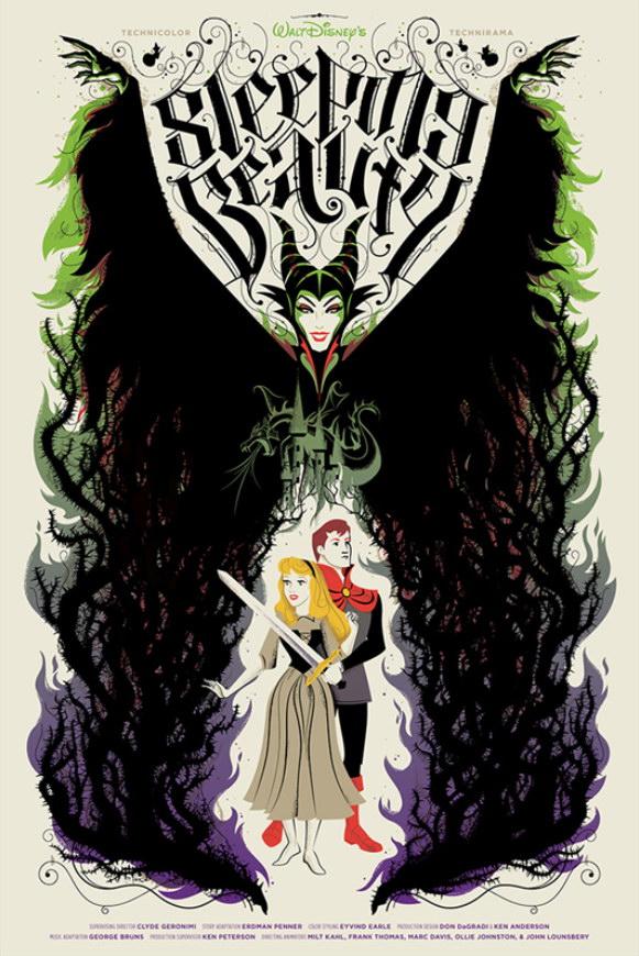 Плакаты Disney, посвященные любимым мультфильмам