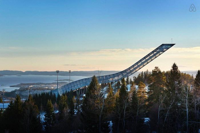 Пентхаус, расположенный в легендарном трамплине Норвегии