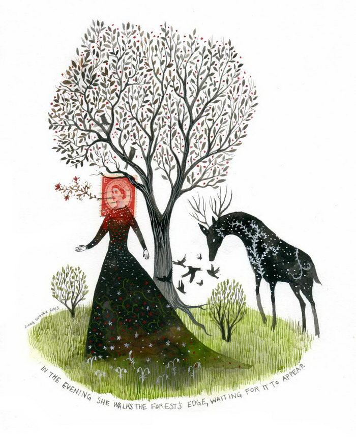 Сказочные иллюстрации Diana Sudyka