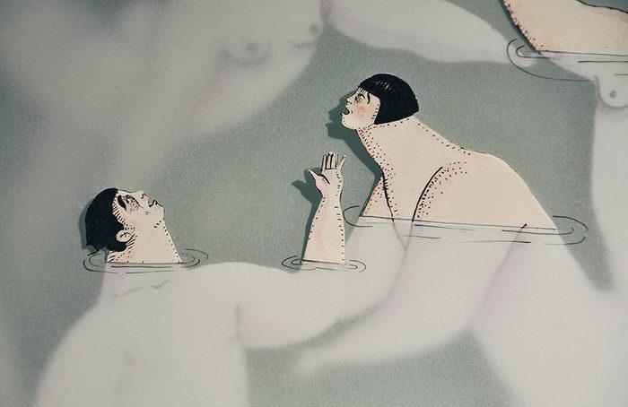 Плавающие женщины в иллюстрациях Sonia Alins