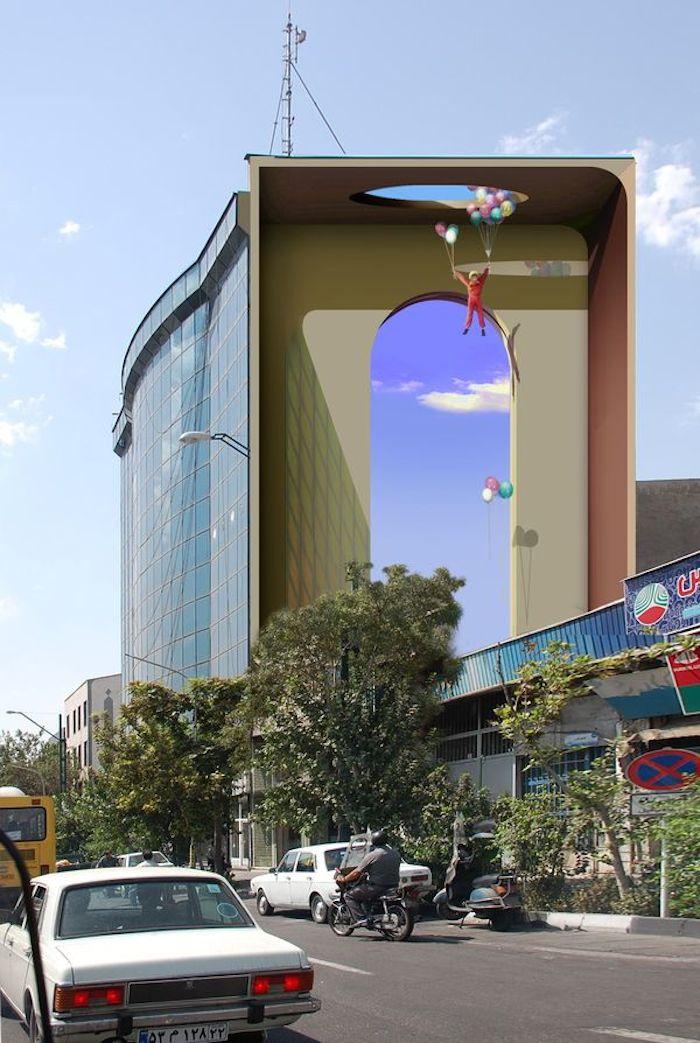 Рисунки на стенах в Тегеране