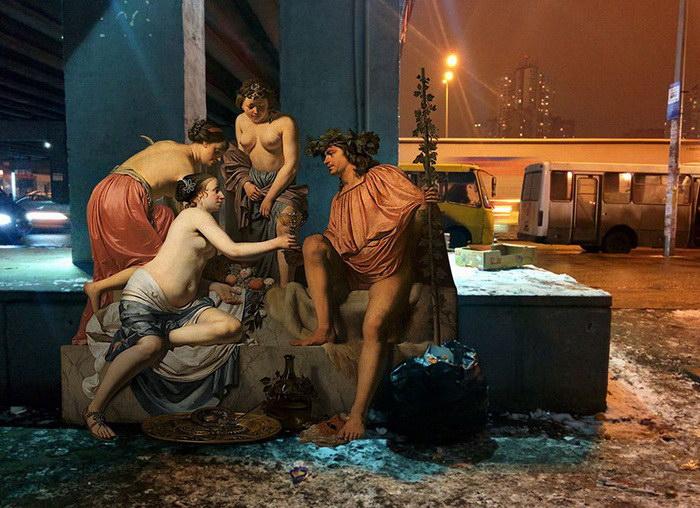 Герои классических картин в современном Киеве