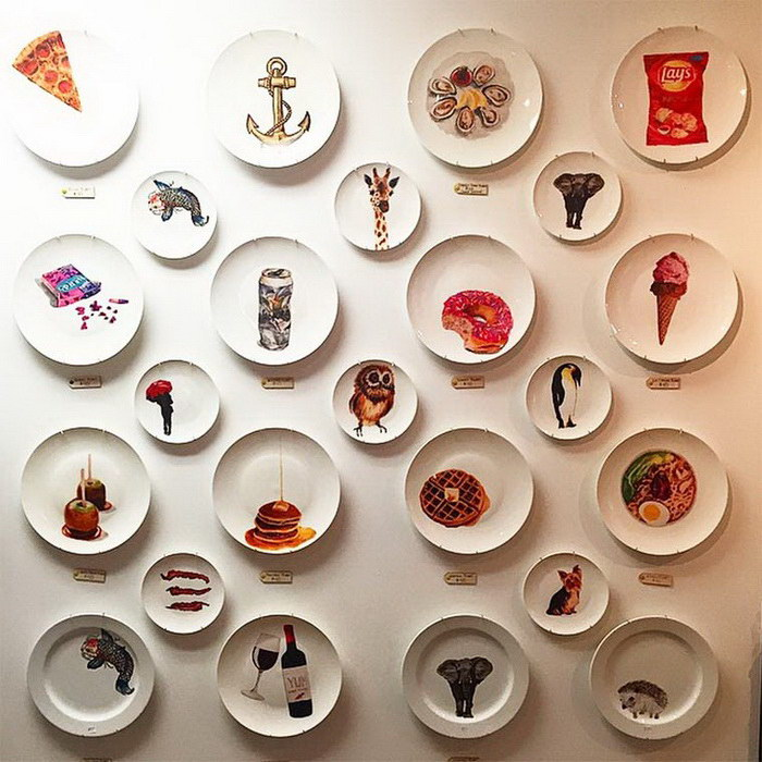 Расписанные тарелки Jacqueline Poirier