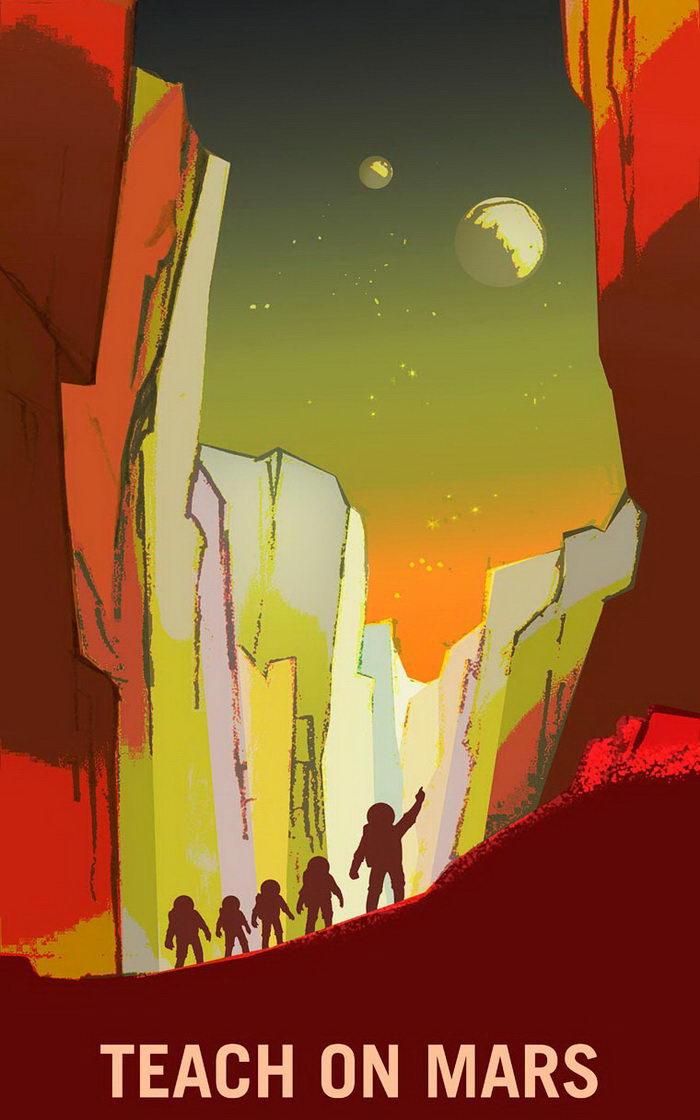 Агитационные плакаты NASA: вместе на Марс!