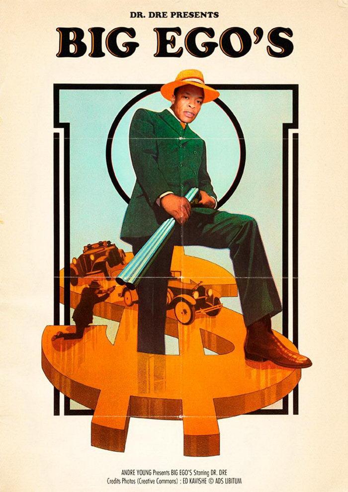 Известные песни как винтажные постеры: работы David Redon
