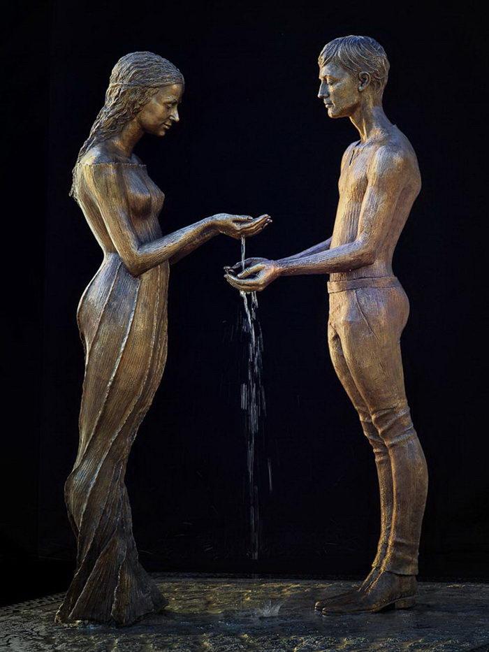Водные скульптуры Malgorzata Chodakowska