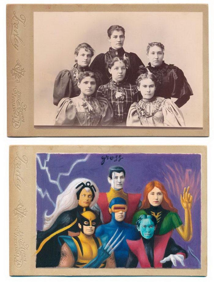 Винтажные супергерои в работах Alex Gross