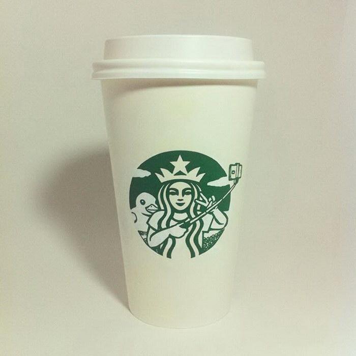 Приключения русалки Starbucks в работах Soo Min Kim