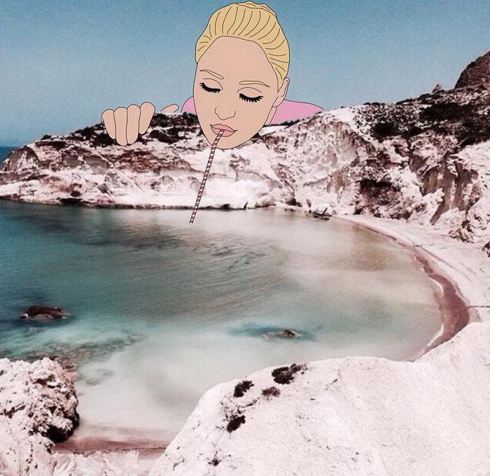 Забавные рисунки на фотографиях Julia Borzucka