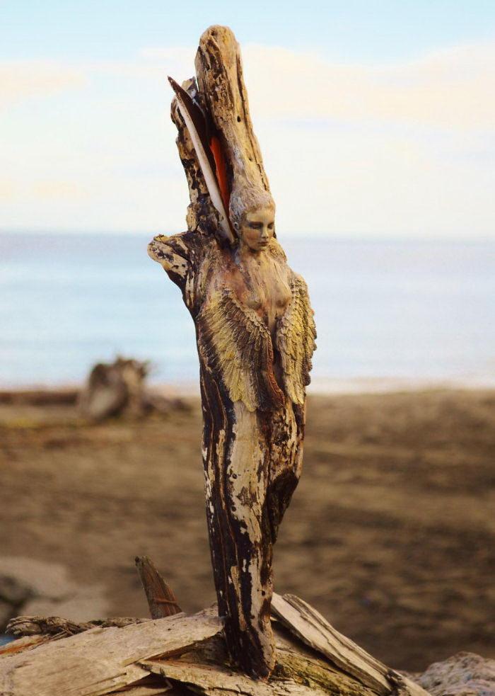 Деревянные скульптуры Debra Bernier