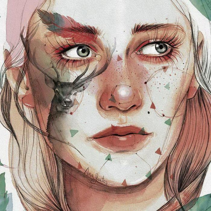 Портреты девушек кисти Ana Santos