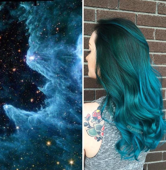 Хит осени 2015: галактически-окрашенные волосы