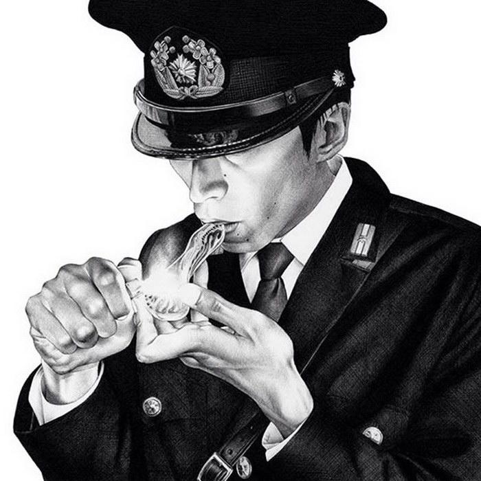 Черно-белые иллюстрации Shohei Otomo