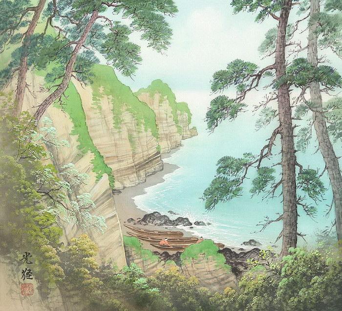 Япония в иллюстрациях Koukei Kojima
