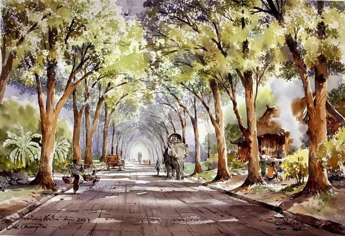 Таиланд в акварельных картинах Thanakorn Chaijinda