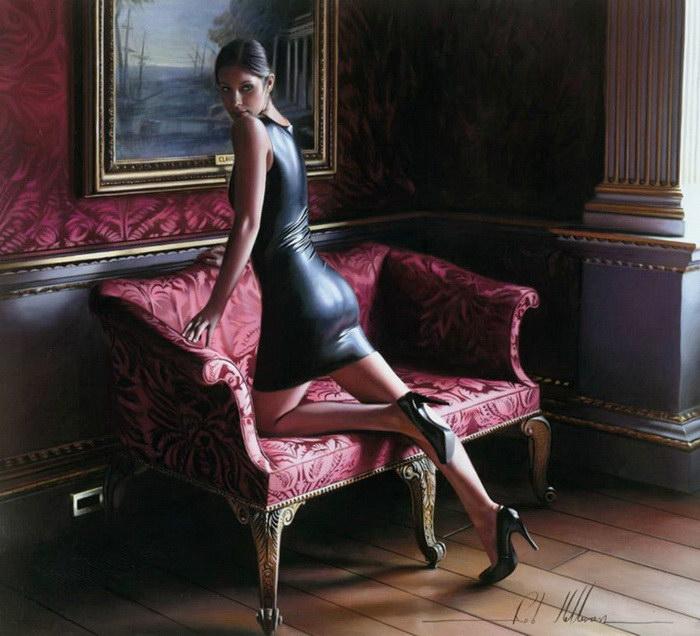 Красивые женщины на картинах Rob Hefferan
