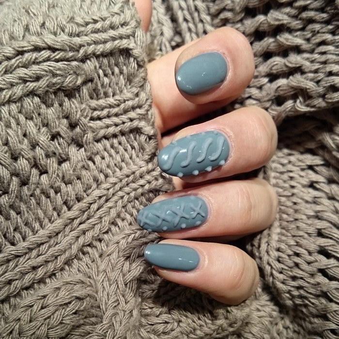 Ногти в стиле вязаного свитера: новый тренд хипстеров 2015 года