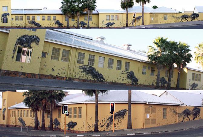 Крутые объемные граффити