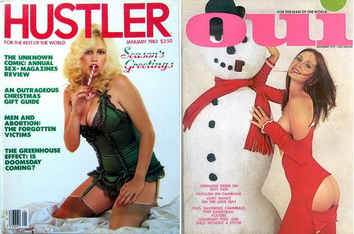 Рождество на обложках эротических журналов прошлого