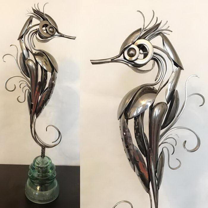Скульптуры из столового серебра Matt Wilson