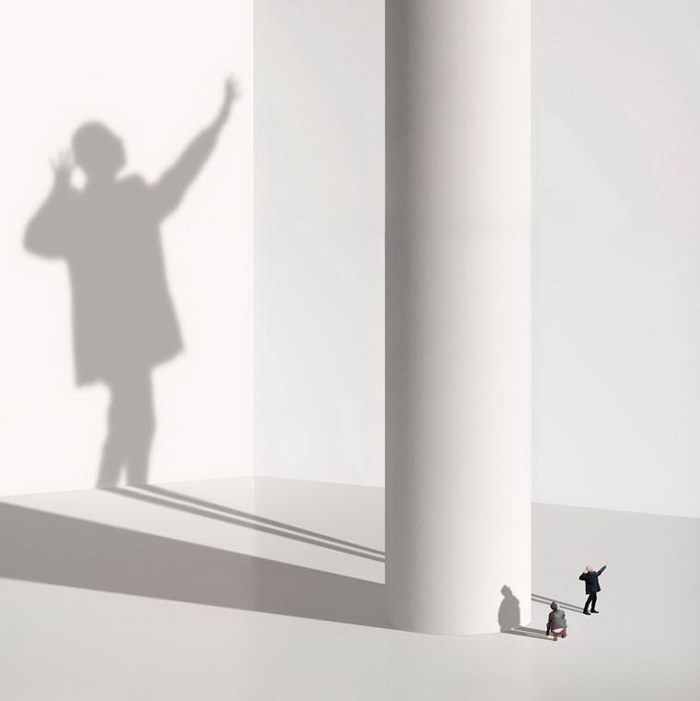 Странные фотоколлажи Muriel Bordier