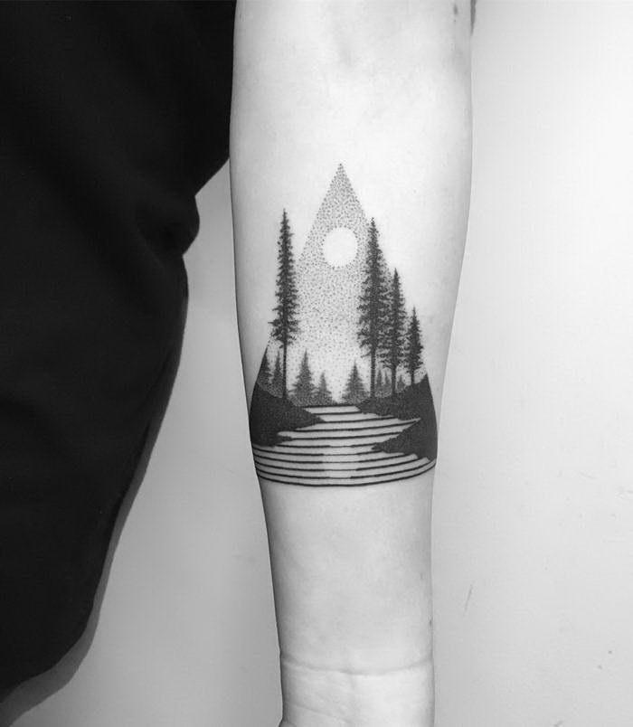 Черно-белые татуировки Francesco Rossetti