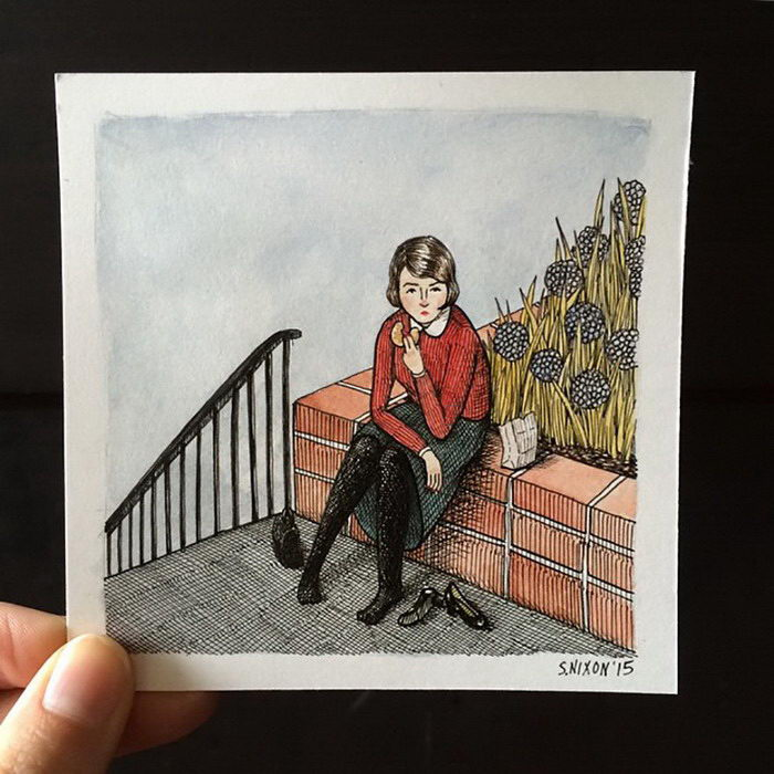 Женские иллюстрации Sally Nixon