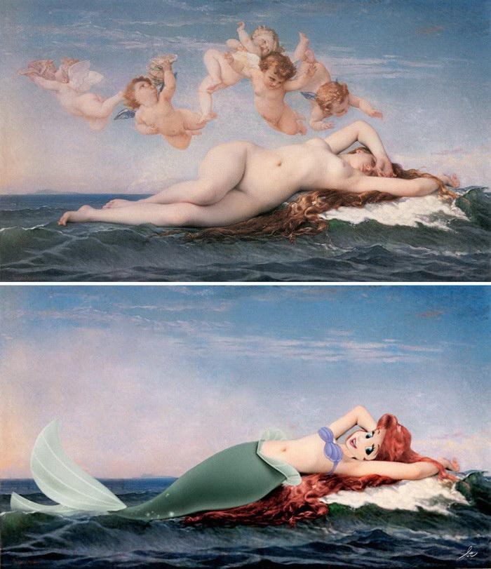 Знаменитости на классических картинах Benedicte Lacroix