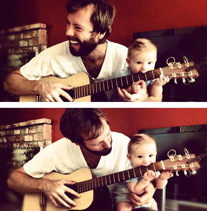 20 фотографий отцов и их маленьких детишек