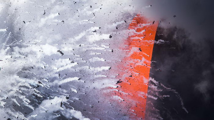 Извержение вулкана в фотографиях Michael Shainblum