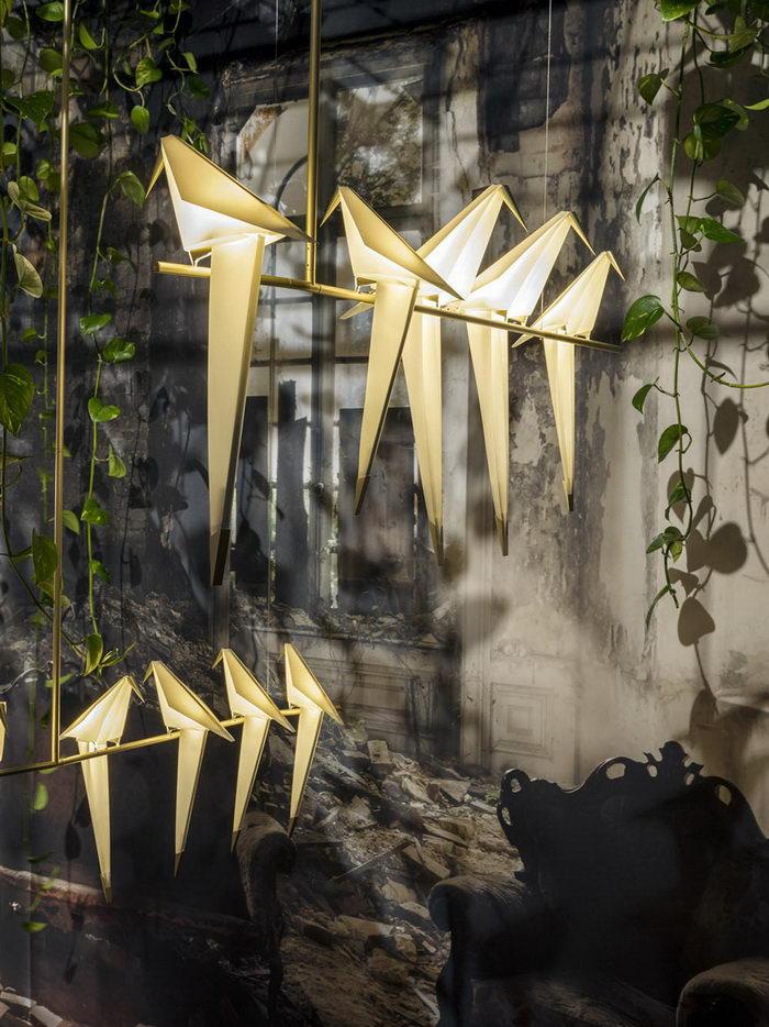 Светильник в виде птицы-оригами Umut Yamac