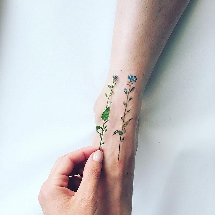 Нежные татуировки Pis Saro