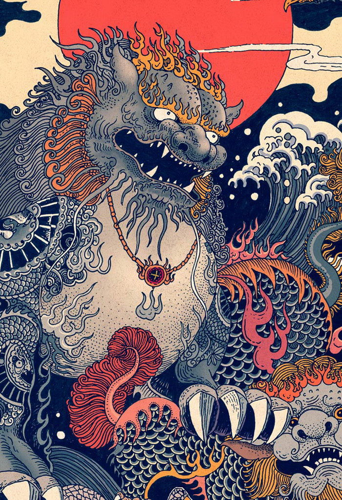 Восточные иллюстрации Rlon Wang
