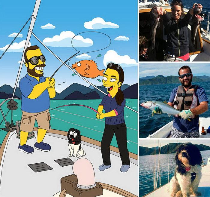 Люди-Симпсоны: забавный проект Valerie Zaremska