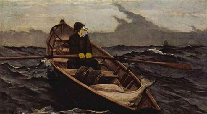 лодка в искусстве