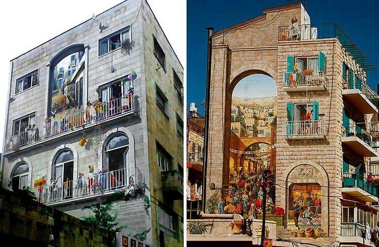 Креативные стены домов