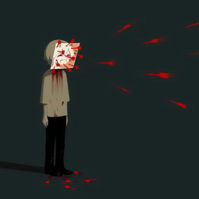 Грустные иллюстрации про Японию Avogado6