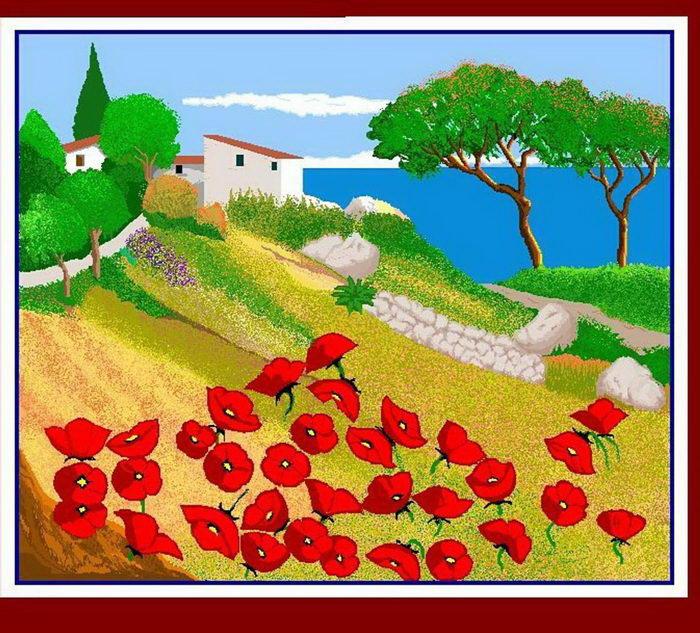 Рисунки в Paint 87-летней Concha Garcia Zaera