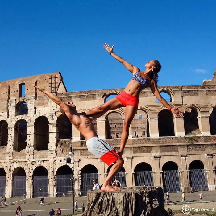 Туризм и йога: фотопроект Claudine и Honza Lafond