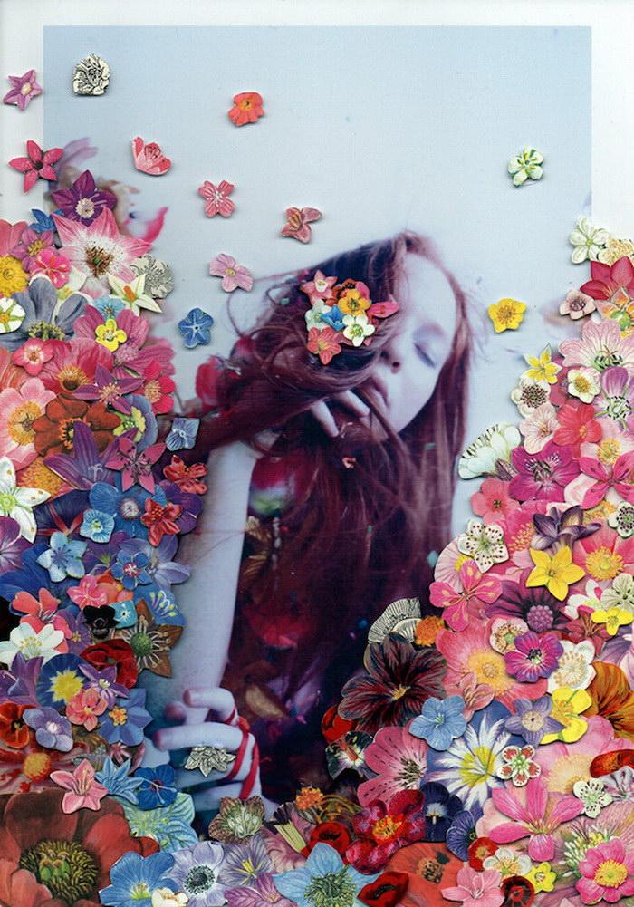 Цветочные коллажи Rebekah Campbell и Ben Giles