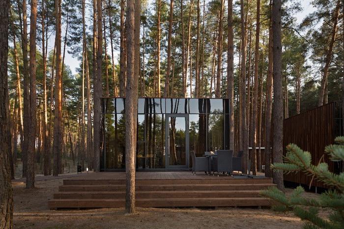 Небольшие гостевые домики в лесу Украины