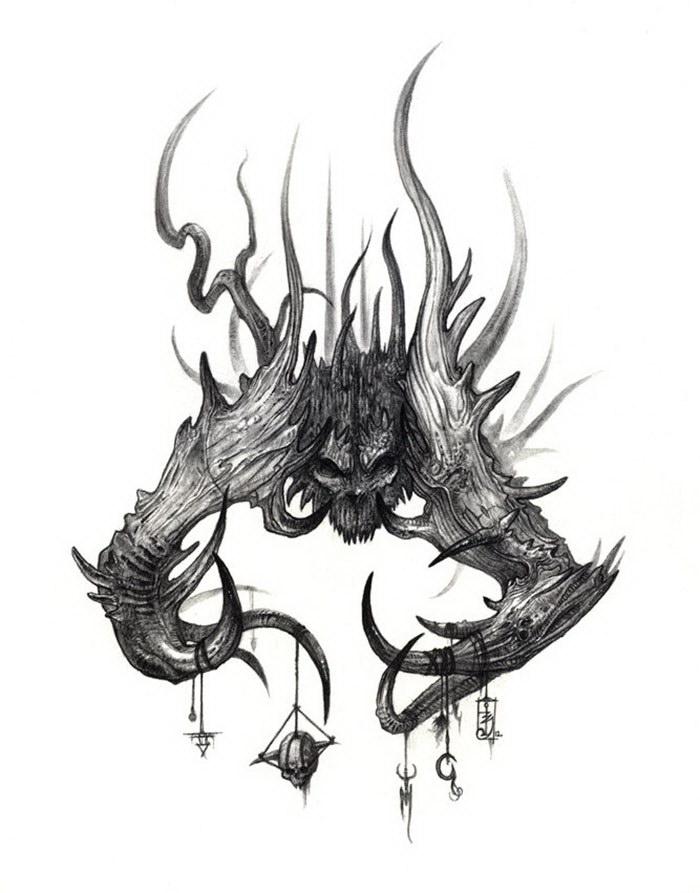 Мистические рисунки Olivier Villoingt