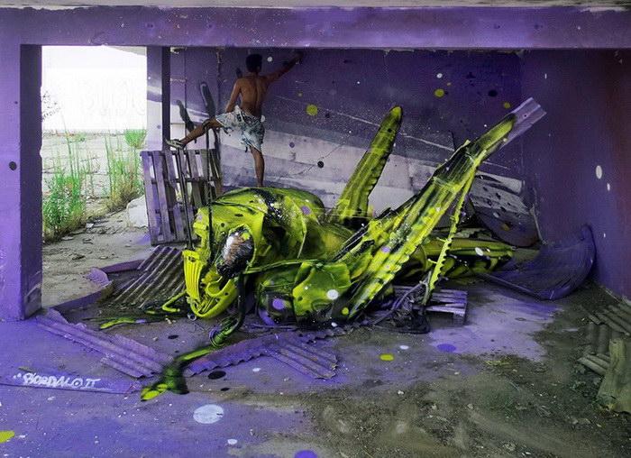Мусорные животные Artur Bordalo