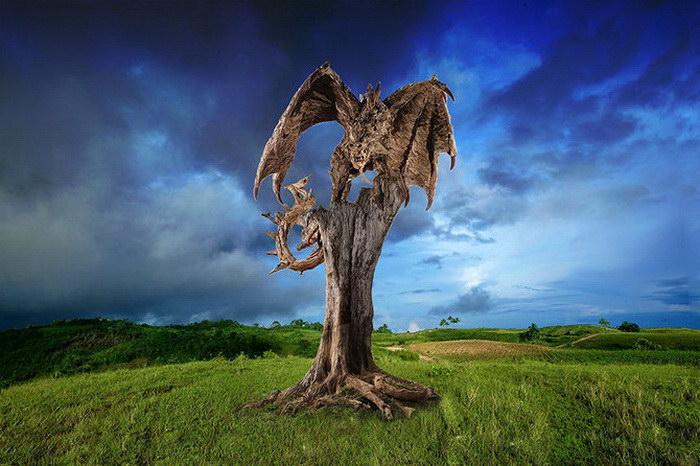 Деревянные скульптуры James Doran-Webb