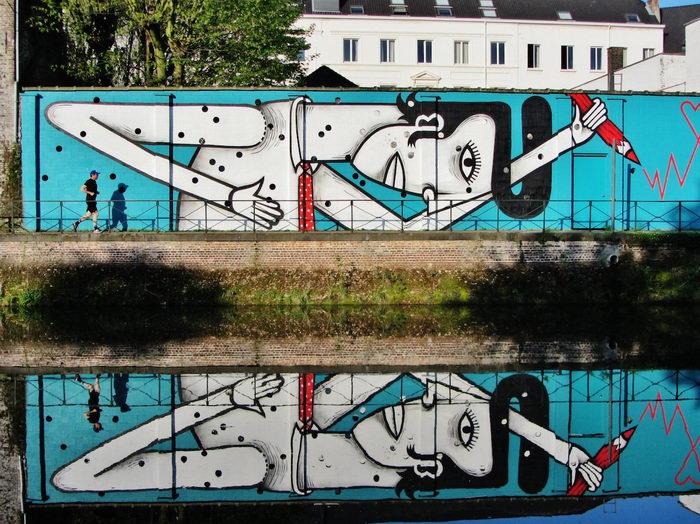Веселые граффити Joachim