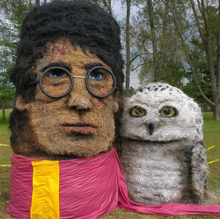 Скульптуры из сена: работы Jean Marie Smith