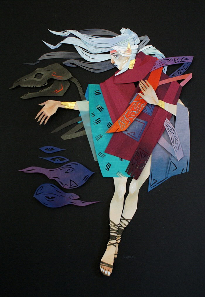 Бумажные коллажи Morgana Wallace