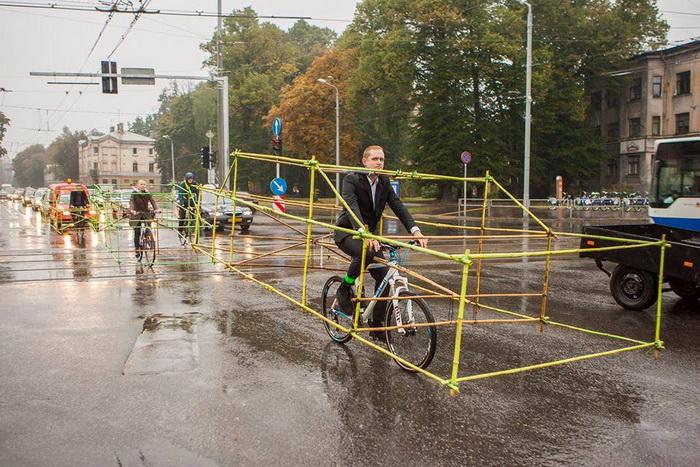 Велосипедисты и их интересный проект